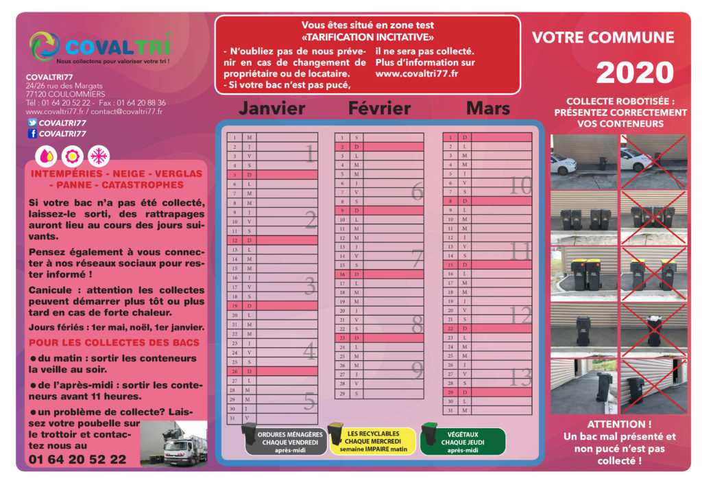 Calendriers 2020 – 01 64 20 52 22